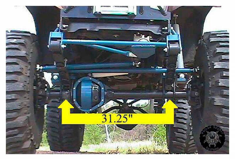 Poison Spyder Customs 11 20 010 Cj Full Width Axle
