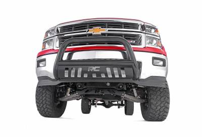 Rough Country Suspension Systems - Rough Country B-D2101 Bull Bar Bumper Guard Black