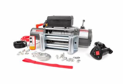 Rough Country Suspension Systems - Rough Country RS12000 12000-Lb Electric Winch Recovery System w/ Steel Cable