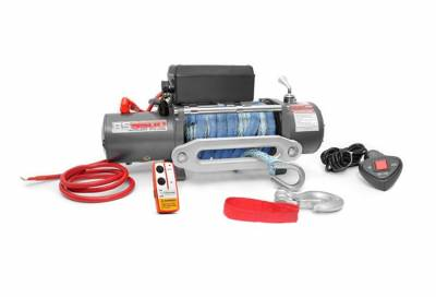 Rough Country Suspension Systems - Rough Country RS9500S 9500-Lb Electric Winch Recovery System w/Synthetic Rope