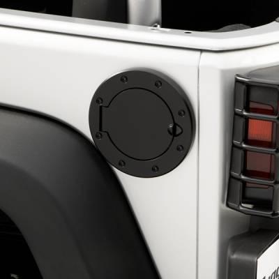 Rugged Ridge - Rugged Ridge 11229.02 Non-Locking Gas Cap Door Black 07-14 Jeep Wrangler