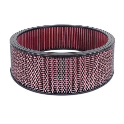 """Airaid - Airaid 800-417 Round Performance Air Filter; 16""""OD x 5.0"""" H; Red Cotton"""