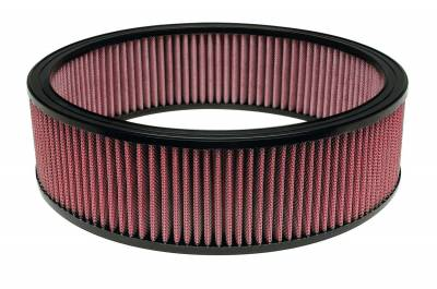 """Airaid - Airaid 801-377 14"""" x 4"""" Performance Replacement Air Filter Red Dry Filter"""