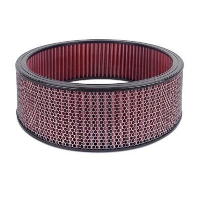 """Airaid - Airaid 801-414 Round Performance Air Filter; 16""""OD x 5.0"""" H; Red Dry Filter"""