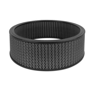 """Airaid - Airaid 802-414 Round Performance Air Filter; 16""""OD x 5.0"""" H; Black Dry Filter"""