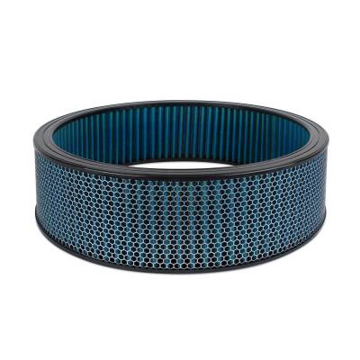 "Airaid - Airaid 803-413 Round Performance Air Filter; 16""OD x 4.0"" H; Blue Dry Filter"