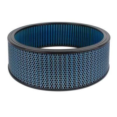 """Airaid - Airaid 803-414 Round Performance Air Filter; 16""""OD x 5.0"""" H; Blue Dry Filter"""