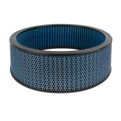 """Airaid - Airaid 800-420 Round Performance Air Filter; 16""""OD x 5.0"""" H; Blue Cotton"""