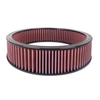 """Airaid - Airaid 800-407 Round Performance Air Filter; 16""""OD x 4.0"""" H; Red Cotton"""