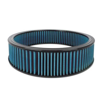 """Airaid - Airaid 800-410 Round Performance Air Filter; 16""""OD x 4.0"""" H; Blue Cotton"""