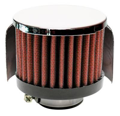 "Airaid - Airaid 772-138 Crankcase Breather Filter 1.25"" ID - Clamp On 3.0"" OD 2.5"" Tall"