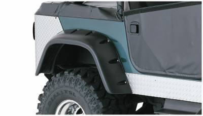 Bushwacker - Bushwacker 10060-07 Cut-Out Rear Fender Flares-Black