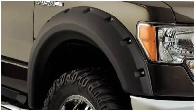 Bushwacker - Bushwacker 20071-02 Max Pocket Front Fender Flares-Black
