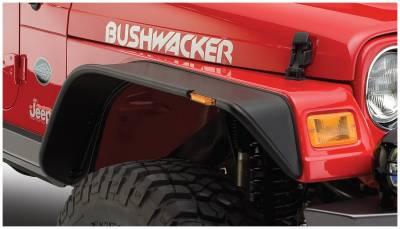 Bushwacker - Bushwacker 10055-07 Flat Style Front Fender Flares-Black