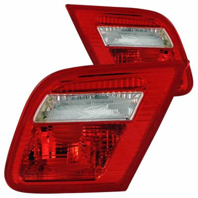 Anzo USA - Anzo USA 221164 Chrome Euro Tail Light Set-Red/Clear Lens