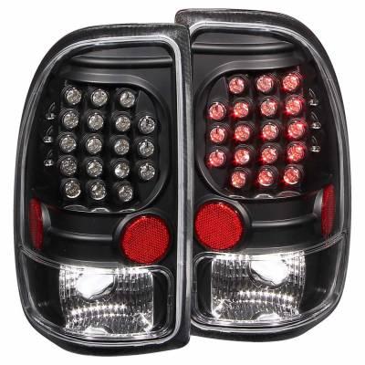 Anzo USA - Anzo USA 311101 Black LED Tail Light Set-Clear Lens