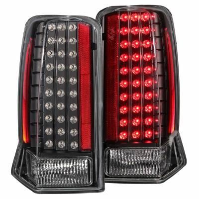 Anzo USA - Anzo USA 311121 Black LED Tail Light Set-Clear Lens