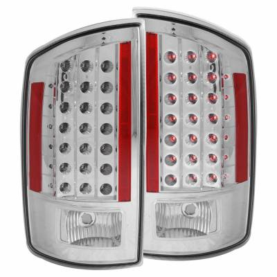 Anzo USA - Anzo USA 311122 Chrome LED Tail Light Set-Clear Lens