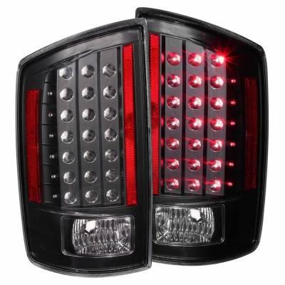 Anzo USA - Anzo USA 311123 Black LED Tail Light Set-Clear Lens