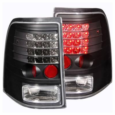 Anzo USA - Anzo USA 311125 Black LED Tail Light Set-Clear Lens
