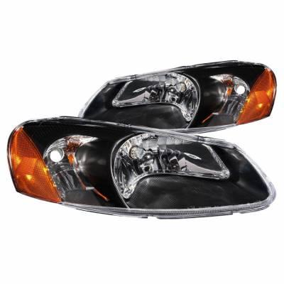 Anzo USA - Anzo USA 121026 Crystal Headlight Set-Black