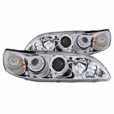 Anzo USA - Anzo USA 121054 Projector Headlight Set w/ LED Halo-Chrome