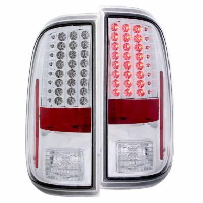 Anzo USA - Anzo USA 311128 Chrome LED Tail Light Set-Clear Lens