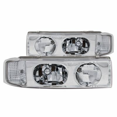 Anzo USA - Anzo USA 111001 Crystal Headlight Set-Chrome
