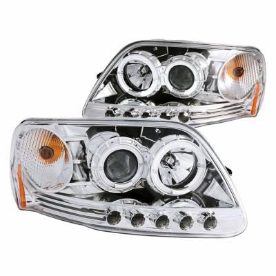 Anzo USA - Anzo USA 111032 Projector Headlight Set w/ LED Halo-Chrome