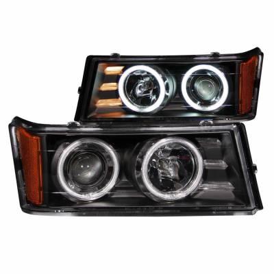 Anzo USA - Anzo USA 111079 Projector Headlight Set w/ CCFL Halo-Black
