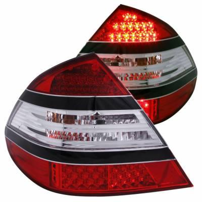 Anzo USA - Anzo USA 321142 Chrome LED Tail Light Set-Red/Clear Lens