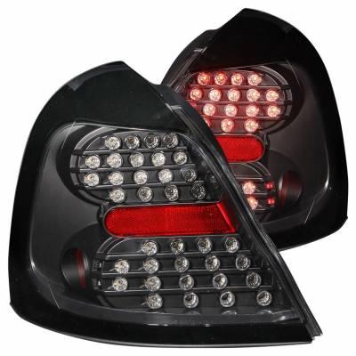 Anzo USA - Anzo USA 321150 Black LED Tail Light Set-Clear Lens
