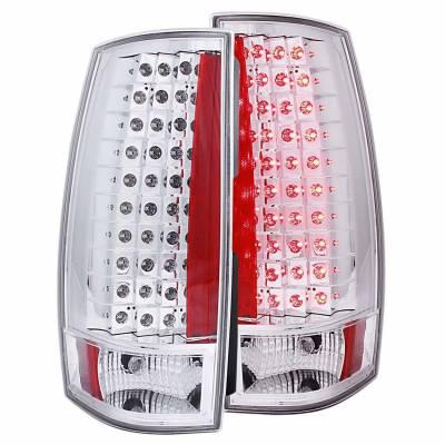 Anzo USA - Anzo USA 311141 Chrome LED Tail Light Set-Clear Lens