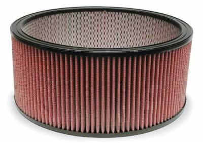 """Airaid - Airaid 801-374 14"""" x 6"""" Performance Replacement Air Filter Red Dry Filter"""