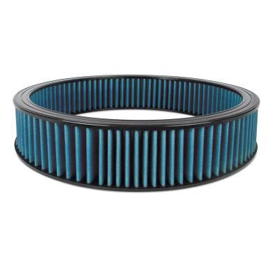 """Airaid - Airaid 803-403 Round Performance Air Filter; 16""""OD x 3.0"""" H; Blue Dry Filter"""