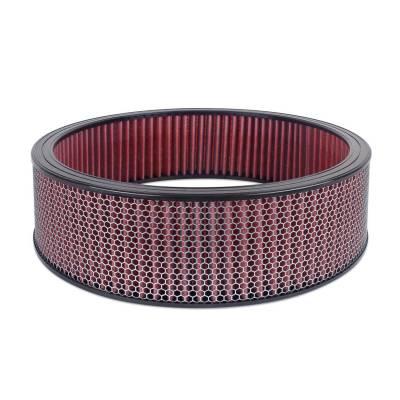 """Airaid - Airaid 801-413 Round Performance Air Filter; 16""""OD x 4.0"""" H; Red Dry Filter"""