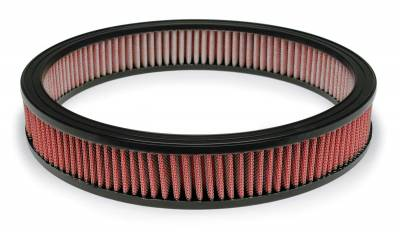 "Airaid - Airaid 800-387 14"" x 2.25"" Performance Replacement Air Filter; Red Oiled Filter"