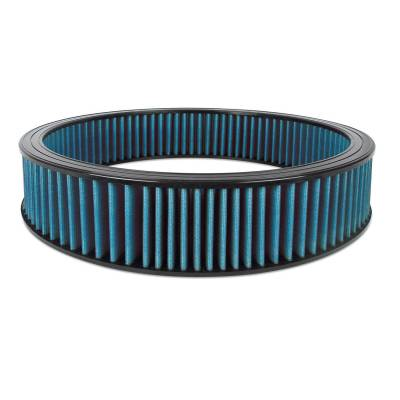 """Airaid - Airaid 800-409 Round Performance Air Filter; 16""""OD x 3.0"""" H; Blue Cotton"""