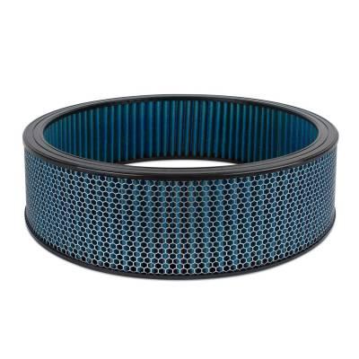 """Airaid - Airaid 800-419 Round Performance Air Filter; 16""""OD x 4.0"""" H; Blue Cotton"""