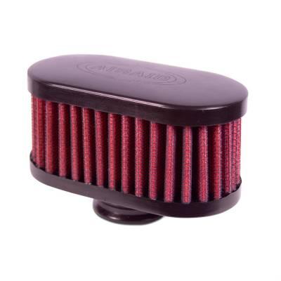 "Airaid - Airaid 771-481 Crankcase Breather Filter 1"" ID - Push On 4""x2"" Oval OD 2"" H"