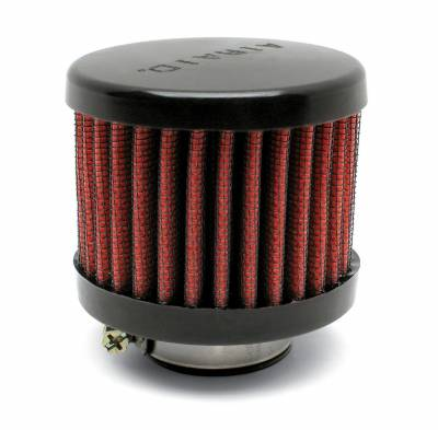 "Airaid - Airaid 771-490 Crankcase Breather Filter 1.25"" OD - Push On 3.0"" OD 2.5"" Tall"
