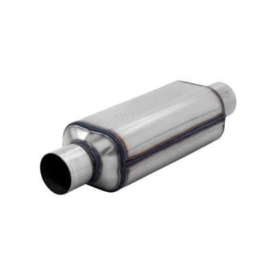 Flowmaster - Flowmaster 12412304 Super HP-2 Hushpower Muffler, Center/Center; Stainless