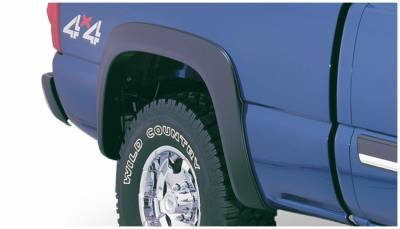 Bushwacker - Bushwacker 40056-02 Extend-a-Fender Rear Fender Flares-Black