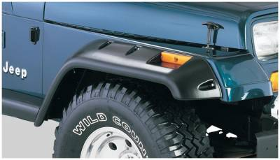 Bushwacker - Bushwacker 10057-07 Cut-Out Front Fender Flares-Black