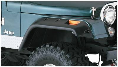 Bushwacker - Bushwacker 10059-07 Cut-Out Front Fender Flares-Black