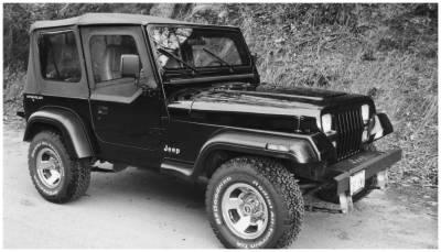 Bushwacker - Bushwacker 10903-11 Extend-a-Fender Front/Rear Fender Flares-Black