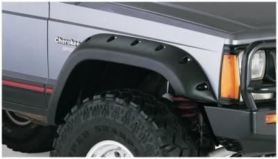 Bushwacker - Bushwacker 10035-07 Cut-Out Front Fender Flares-Black
