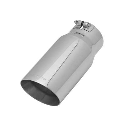 Flowmaster - Flowmaster 15376 Exhaust Pipe Tip Angle Cut Polished Stainless Steel