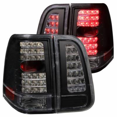 Anzo USA - Anzo USA 311097 Black LED Tail Light Set-Clear Lens