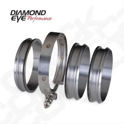 "Diamond Eye - Diamond Eye QC400-3 4"" Quick Connect Couplers-3 CNC Machined Flanges & 1 V-band"